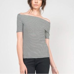Jcrew off the shoulder tee